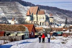 Iglesia fortificada de Biertan imagen de archivo libre de regalías