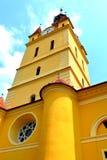 Iglesia fortificada medieval en Cristian, Transilvania Imagen de archivo