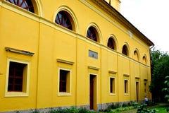 Iglesia fortificada medieval en Cristian, Transilvania Foto de archivo libre de regalías