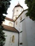 Iglesia fortificada medieval interior de Tartlau (Prejmer) Imagen de archivo