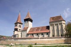 Iglesia fortificada - mica de Seica, Rumania fotografía de archivo
