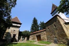 Iglesia fortificada sajón de Mesendorf imagen de archivo