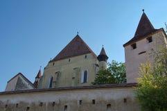 Iglesia fortificada sajón medieval fotos de archivo