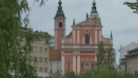 Iglesia franciscana del anuncio en Ljubljana metrajes
