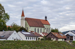 Iglesia franciscana en Kelheim, Alemania imagen de archivo