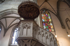 Iglesia Fraumunster Zurich del púlpito Fotografía de archivo libre de regalías