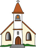 Iglesia gótica stock de ilustración