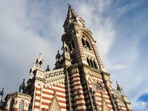 Iglesia gótica en Bogotá, Colombia. Fotografía de archivo