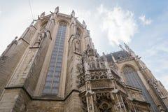 Iglesia gótica en Bruselas Fotografía de archivo libre de regalías