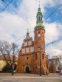 Iglesia gótica en Bydgoszcz, Polonia Fotografía de archivo