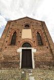 Iglesia gótica en Cislago (Lombardía, Italia) Foto de archivo libre de regalías
