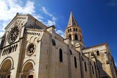 Iglesia gótica en Nimes Francia Imagen de archivo libre de regalías
