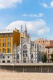 Iglesia gótica en Roma, Italia Fotografía de archivo libre de regalías