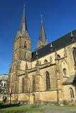 Iglesia gótica en Vysoke Myto Fotos de archivo libres de regalías