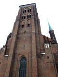 Iglesia Gdansk, Polonia del ladrillo de la basílica de St Mary Imagenes de archivo