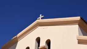 Iglesia griega con la cruz Fotos de archivo libres de regalías