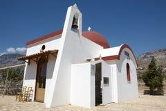 Iglesia griega tradicional en el valle de Amari crete Grecia fotografía de archivo