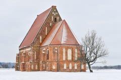 Iglesia gótica Zapyskis Lituania Foto de archivo libre de regalías