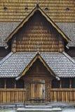 Iglesia Heddal del bastón imagen de archivo libre de regalías