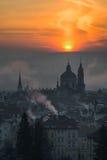 Iglesia hermosa del St Nicolás, Praga, República Checa foto de archivo