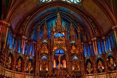Iglesia hermosa en Montreal Fotografía de archivo libre de regalías