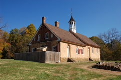 Iglesia histórica de Bethabara Fotografía de archivo