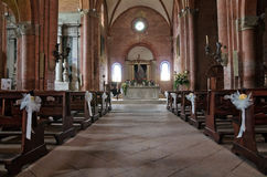Iglesia histórica de Emilia-Romagna. Italia. Imagen de archivo libre de regalías