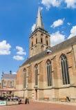 Iglesia histórica de Gudula en el centro de Lochem Fotografía de archivo