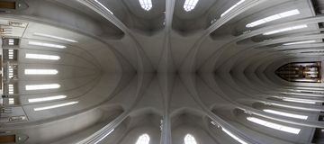 Iglesia interior fotos de archivo