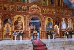 Iglesia interior de la resurrección en el monasterio santo de la resurrección Fotos de archivo libres de regalías