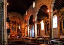 Iglesia interior de Matriz de Vila do Conde Imagen de archivo libre de regalías