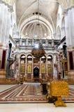Iglesia interior de Santo Sepulcro Fotos de archivo