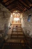 Iglesia interior de Vall del la de Erill Fotografía de archivo