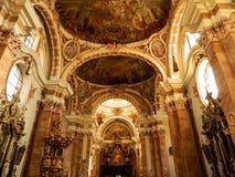 Iglesia interior Innsbruck de la jesuita Fotos de archivo libres de regalías