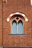 Iglesia Italia de la ventana color de rosa de Abbiate Varese la pared vieja Fotografía de archivo