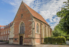 Iglesia Johannes Kapelle en el centro histórico de Munster Foto de archivo