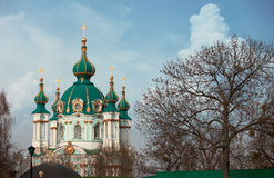 Iglesia Kiev Ucrania del orthdox de Saint Andrews Imagen de archivo libre de regalías