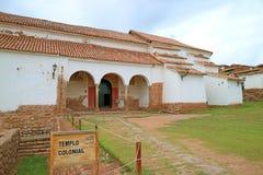Iglesia Kolonista De Chinchero kościół na dużej wysokości Chinchero miasteczko, Cuzco, Peru zdjęcie royalty free