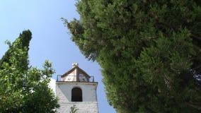Iglesia a la calle en Theologos, Thassos Grecia metrajes