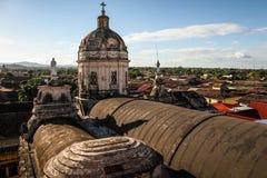 Iglesia La Merced, Granada, Nicaragua Fotografering för Bildbyråer