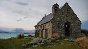 Iglesia, lago Tekapo Imagen de archivo libre de regalías