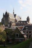 Iglesia Leiden el Netherlandse Imágenes de archivo libres de regalías
