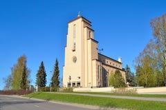 Iglesia luterana de Jyvaskyla Imagenes de archivo