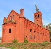 Iglesia luterana del 1842o año de construcción Imagen de archivo