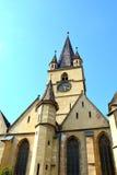 Iglesia luterana en Sibiu, capital europea de la cultura por el año 2007 Imagen de archivo
