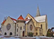 Iglesia luterana evangélica. St Matthew en Lodz, Imagen de archivo