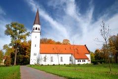 Iglesia luthetan vieja en Sigulda Imágenes de archivo libres de regalías