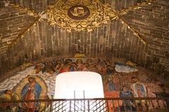 Iglesia México del arcángel de Guadalupe del fresco foto de archivo libre de regalías