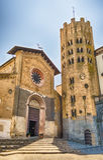 Iglesia medieval de St Andrea, Orvieto, Italia Fotografía de archivo libre de regalías