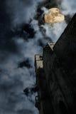 Iglesia medieval en la noche Fotografía de archivo